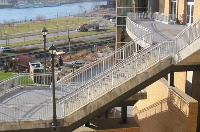 metal railings science museum