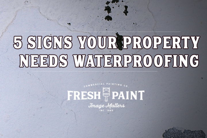% signs your property needs waterproofing